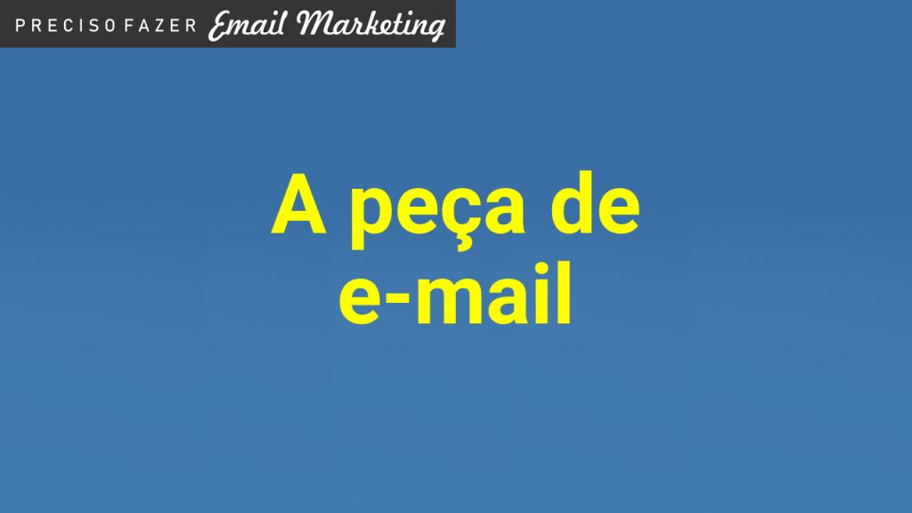 A peça de e-mail marketing